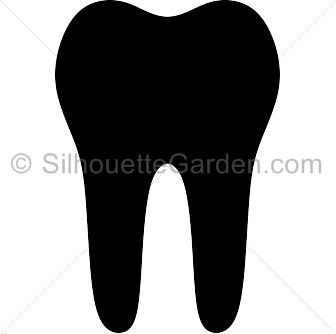 Tooth silhouette png.