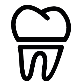 Vector toothbrush silhouette. Tooth of