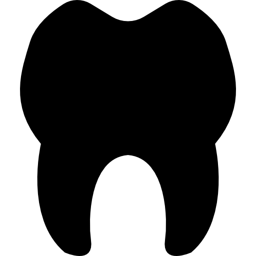 Clean vector healthy tooth. Teeth silhouette icons free