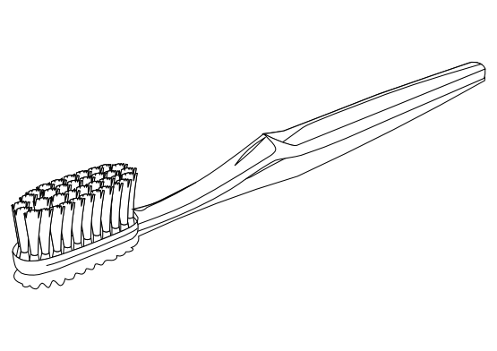 Vector toothbrush black and white. Brush graphic transparent