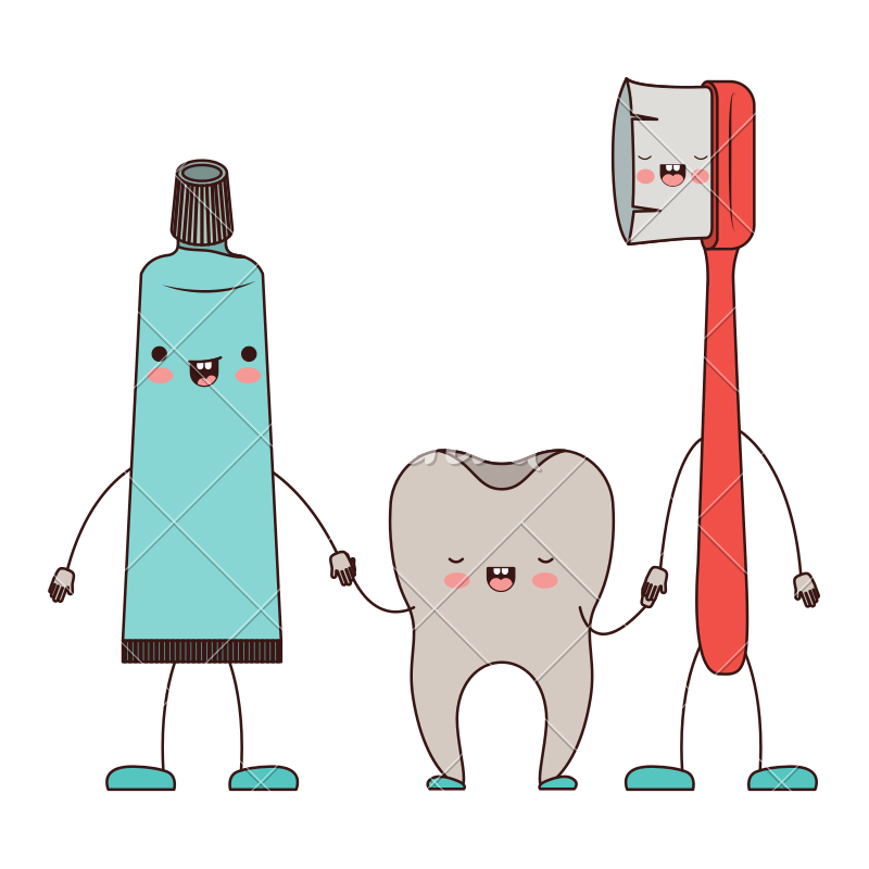 Toothpaste clip animated. And tooth toothbrush in