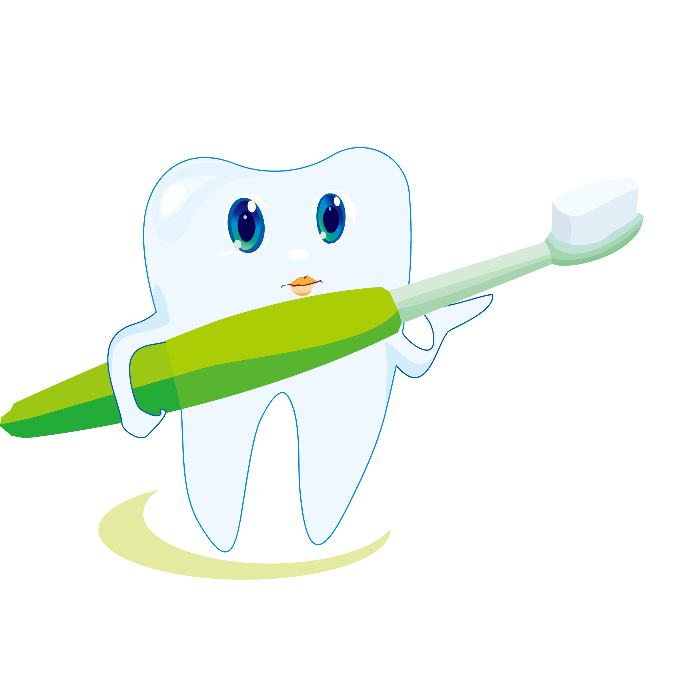 Toothbrush clip cute. Toothpaste icon cartoon tooth