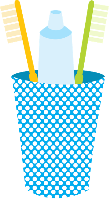 toothbrush clip vector