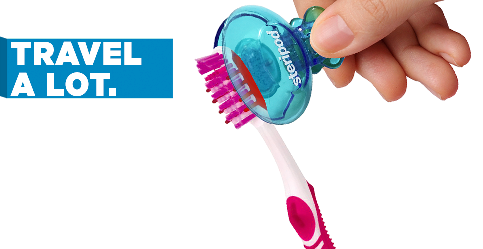 Toothbrush clip steripod. Protector uk clipon with