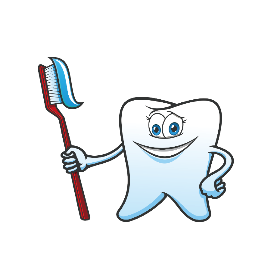 Toothbrush clip tooth fairy. Cartoon toothpaste and transprent