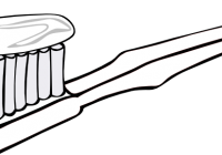 Tooth brush with toothpaste. Toothbrush clipart banner library