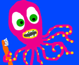 Toothbrush clipart octopus. Needs to drawing by
