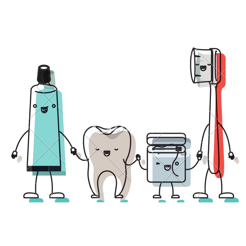 Tooth and toothpaste dental. Toothbrush clipart toothbrush floss image royalty free download