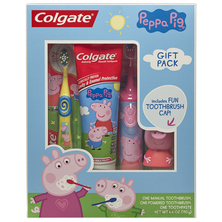 Toothbrush clipart toothpaste box. Colgate kids cap gift