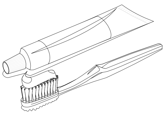 Toothpaste clip black and white. Clipartist net art food