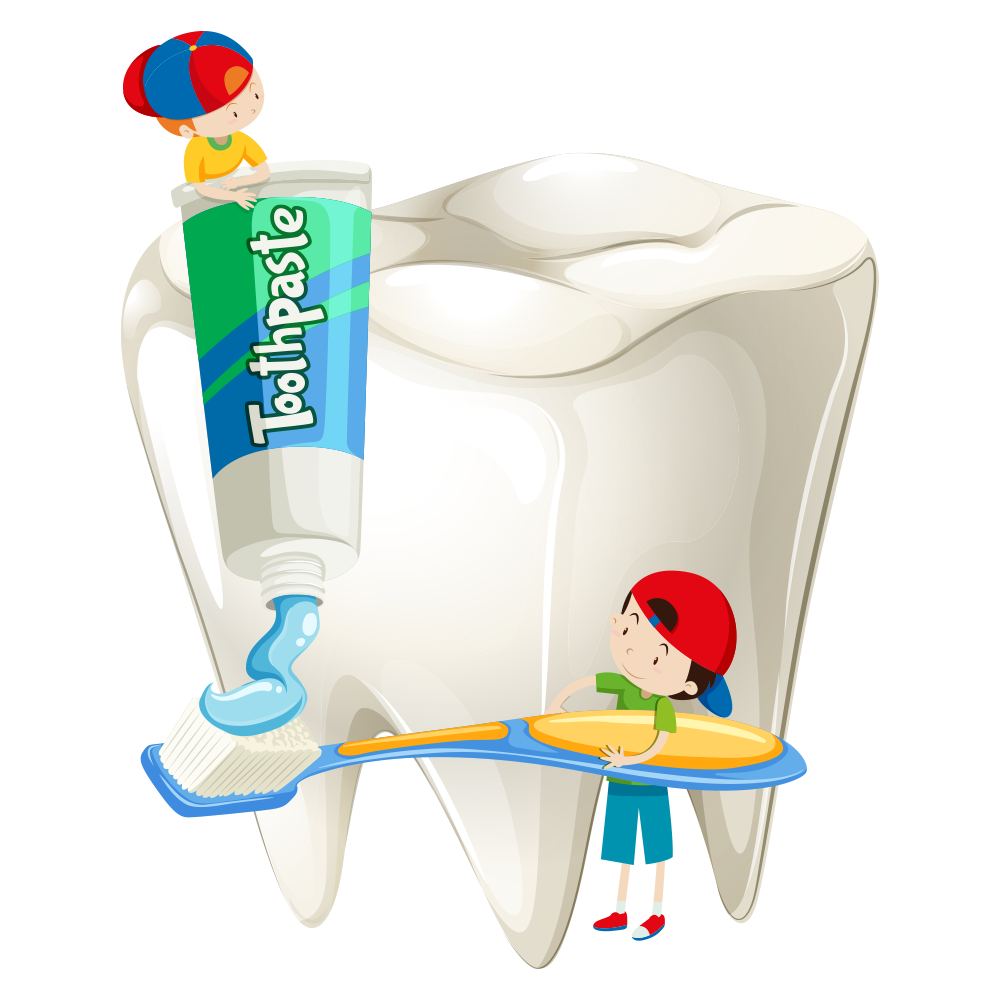 Toothpaste clip cartoon. Tooth fairy dentistry art