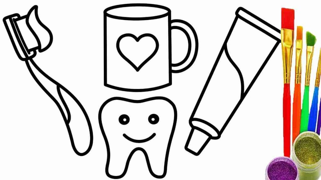 Toothpaste clipart coloring page. Toothbrush and www advice