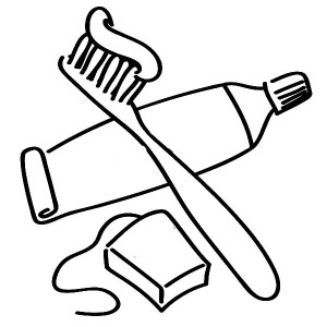 keep your teeth healthty in dental health coloring page. for dental health  you need dental flosh and tooth brush with tooth paste coloring page.  printable tooth coloring sheet. coloring pages. dental hygiene | 300x300