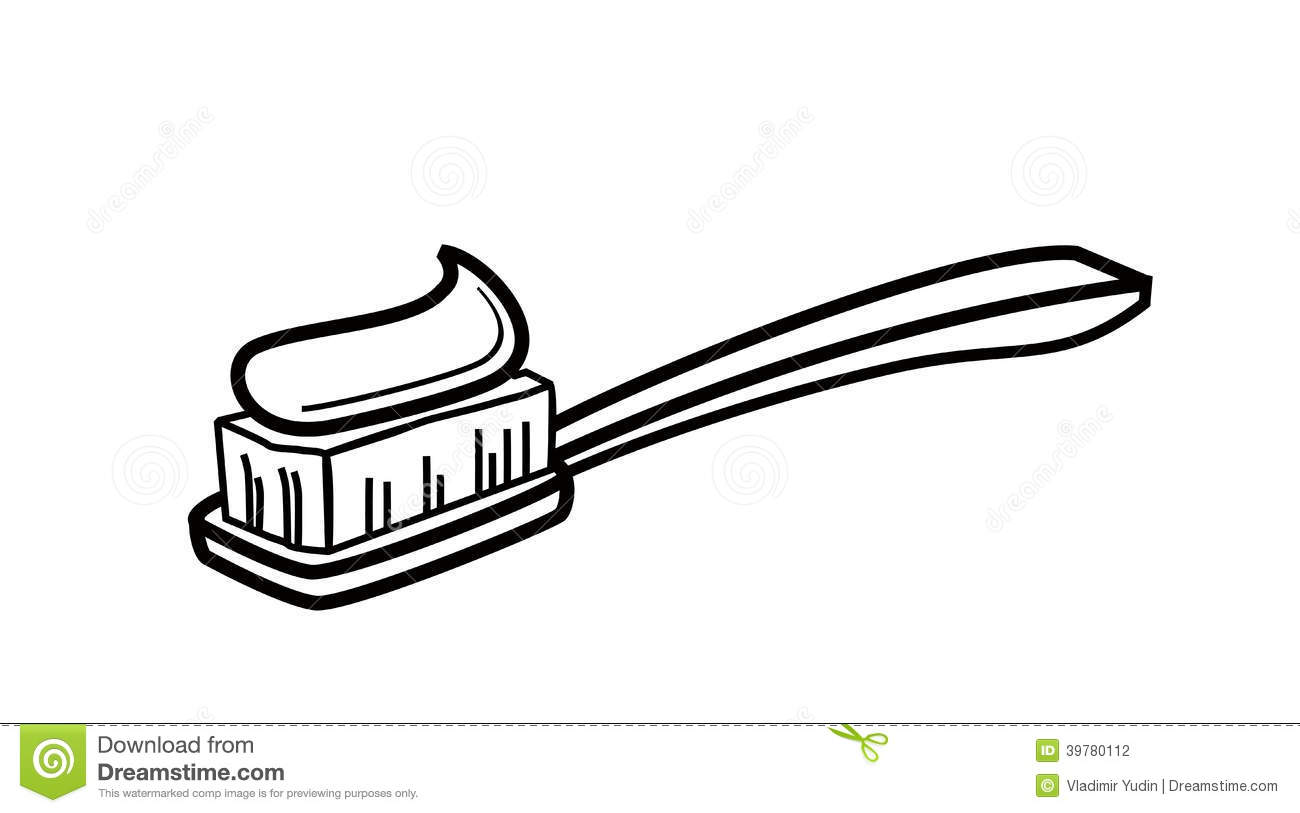 Toothpaste clipart coloring page. Bargain toothbrush printable pictures