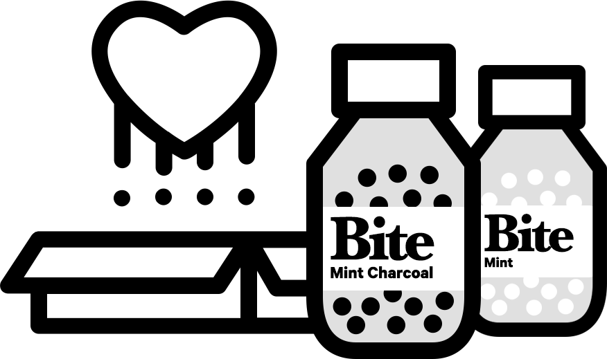 Toothpaste clipart simple. Bite bits mint charcoal