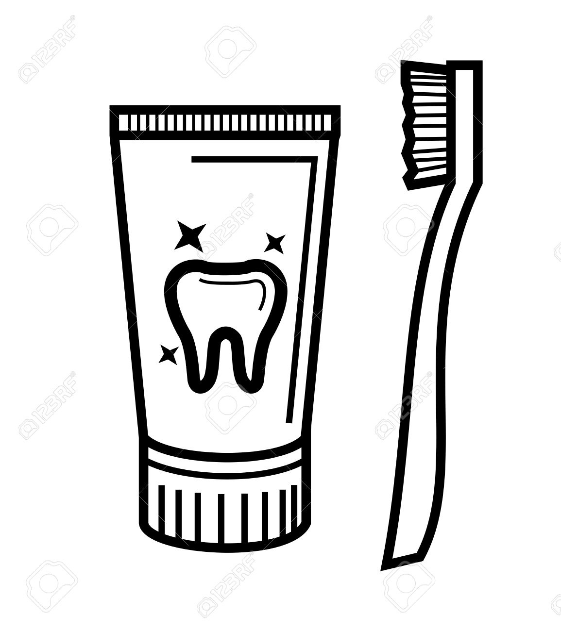 Toothpaste clipart simple. Bright inspiration toothbrush with