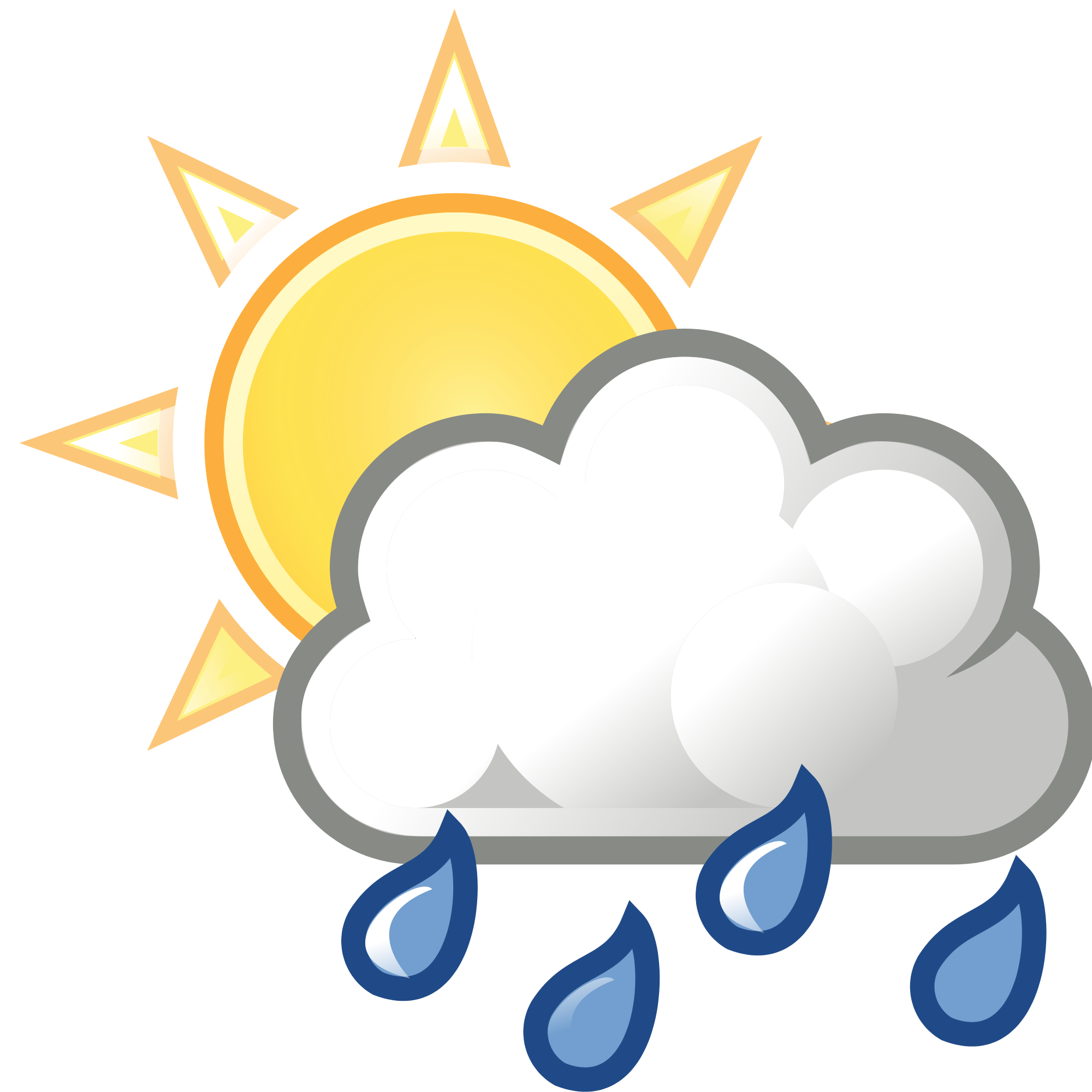 Top clipart. Sun and clouds rain