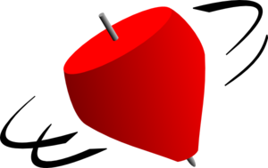 Spin vector gasing. Free spinning top cliparts