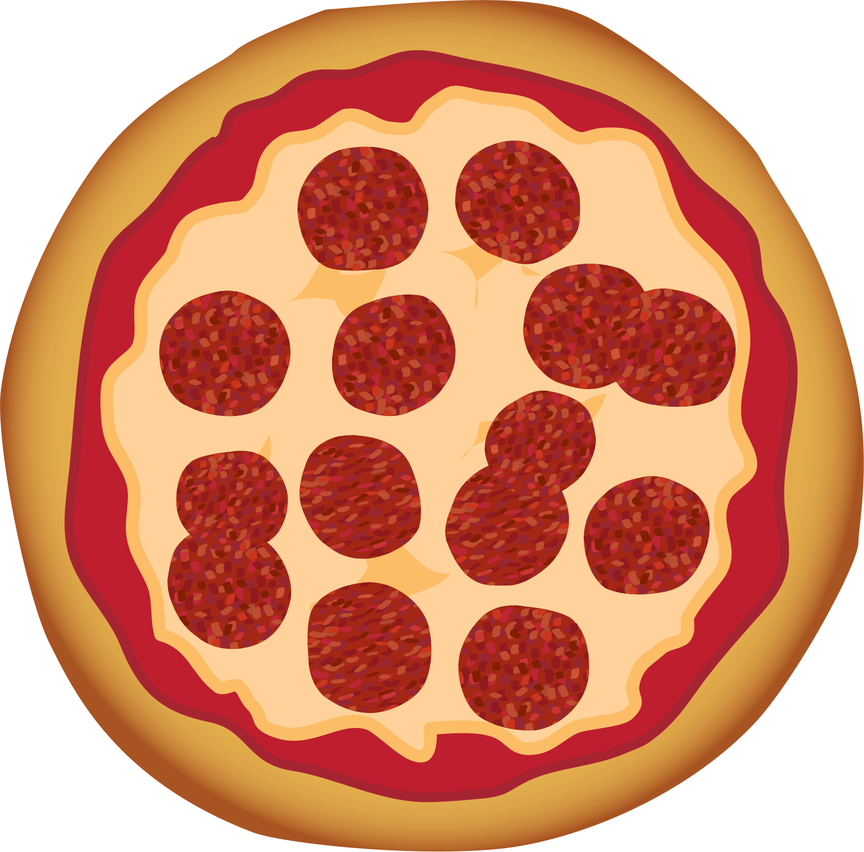 Top clipart pizza. Pepperoni clip art pictures