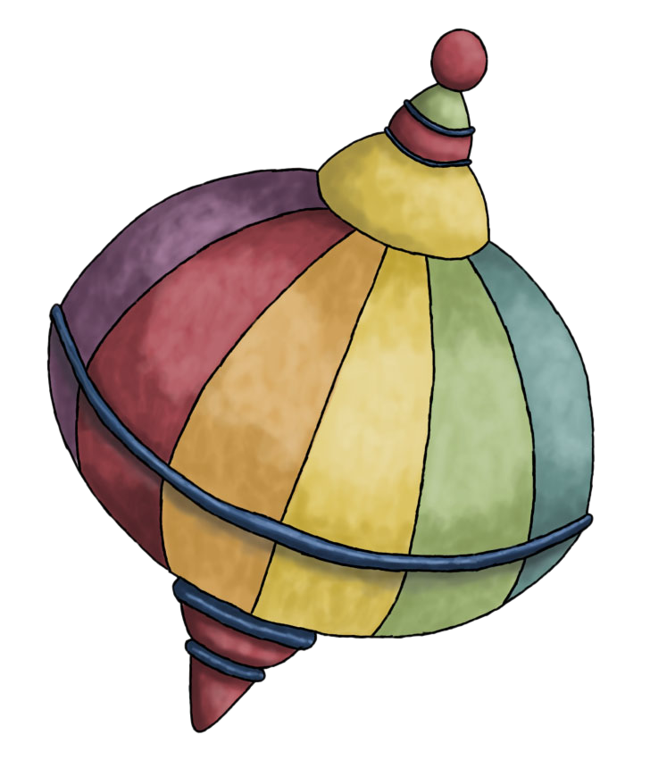 Spin drawing gasing. Spinning top clip art