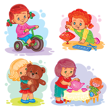 Toys vector kid items. Spinning top png vectors
