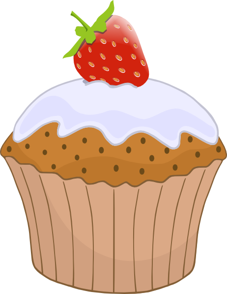 Top clipart strawberry muffin. Cupcake with on clip