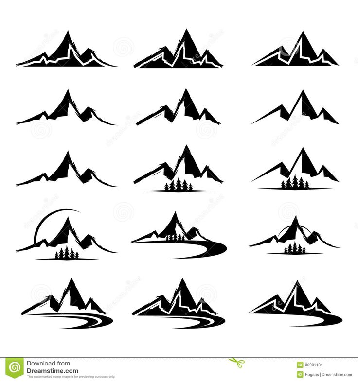 Top clipart tall mountain. Best shapes line