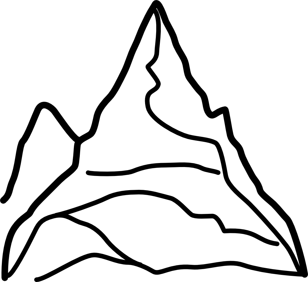 Top clipart tall mountain. Mountains silhouette clip art