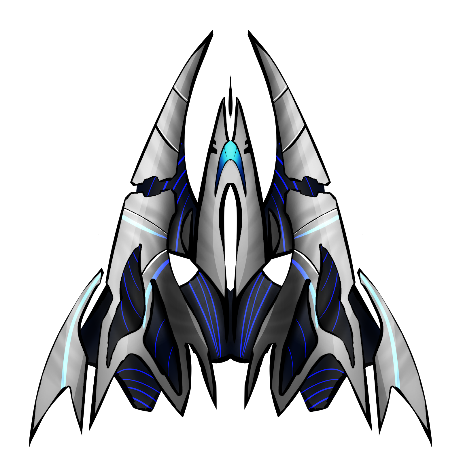 Top down spaceship png. Millionthvector new free sprites