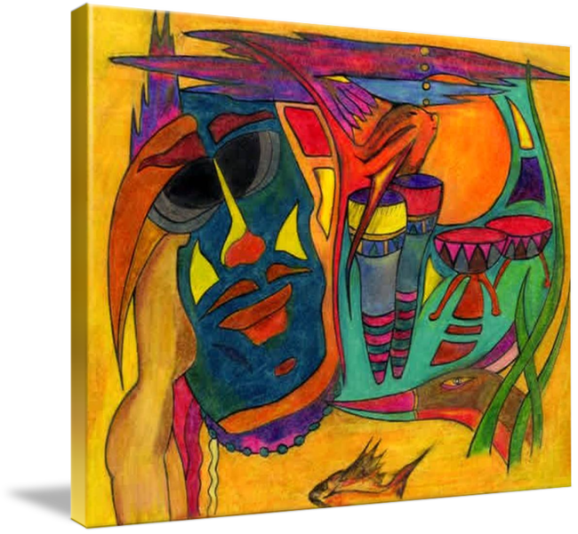 Top drawing art work. Color pencil abstracts michael