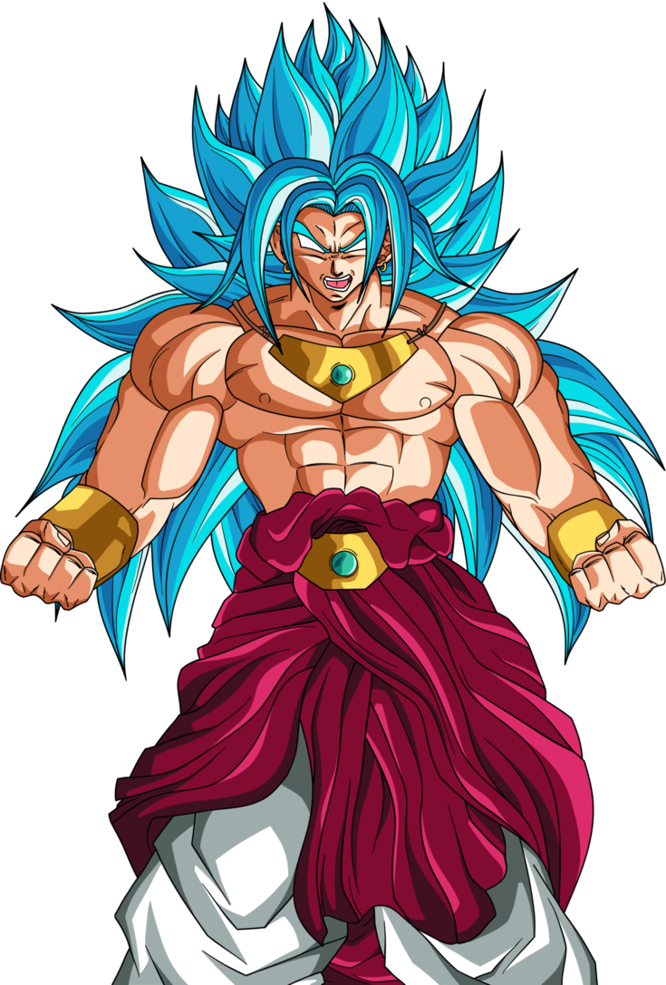 Top drawing broly. God blue by dragonballaffinity