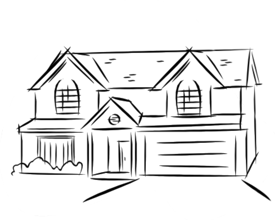 Fabulous simple home sketch. Shack drawing easy vector freeuse library