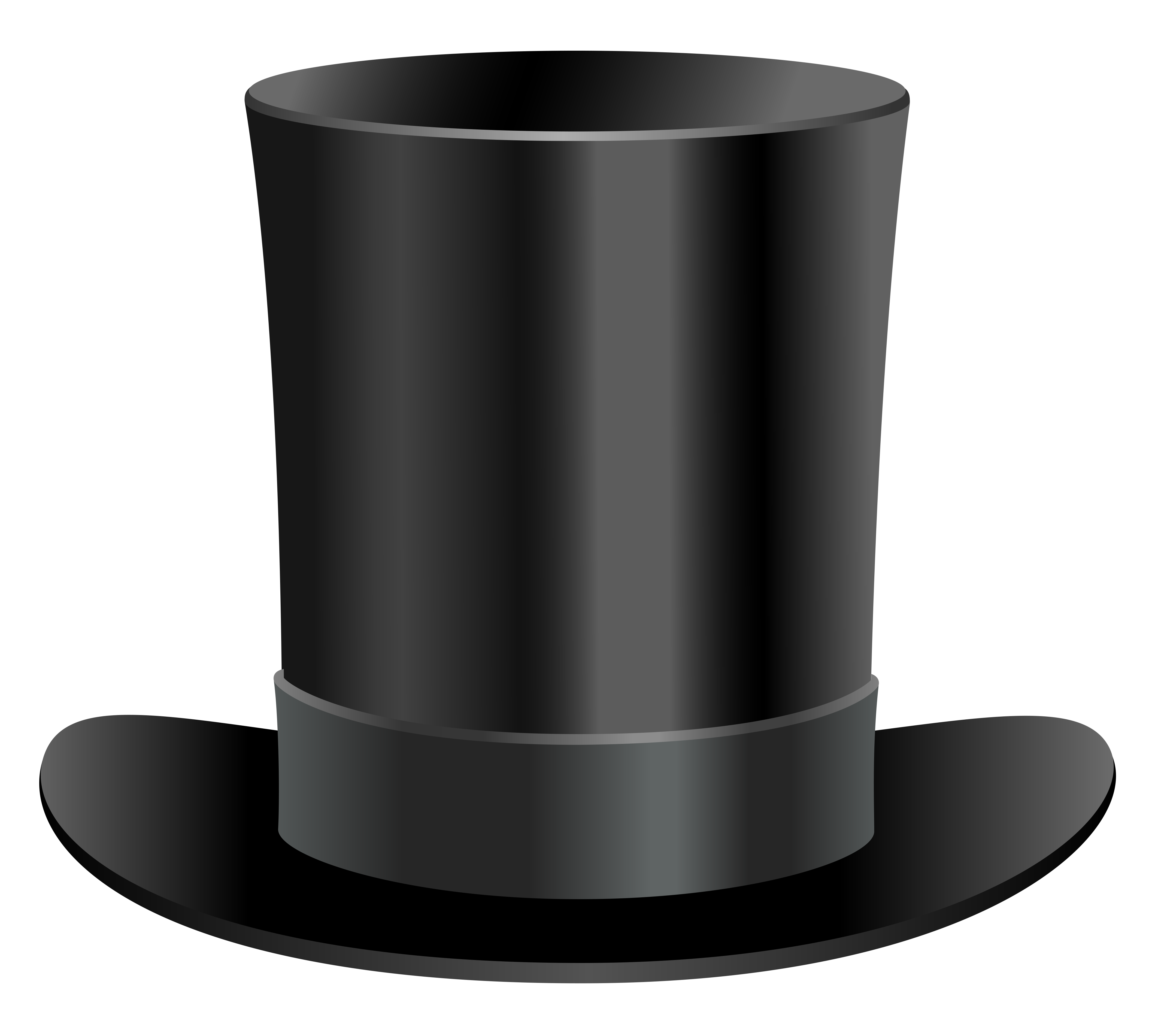 Top hat transparent png. Black clipart gallery yopriceville