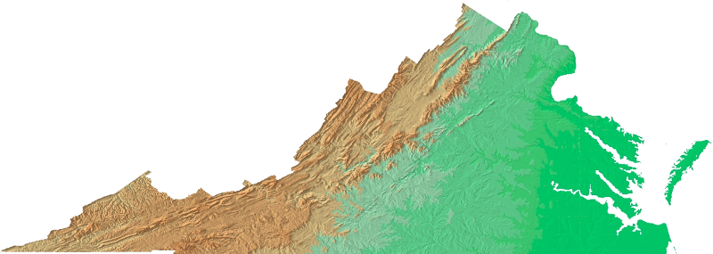 Topographic vector mountain range. Topography of virginia shaded
