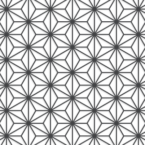 Trippy vector abstract geometric pattern. Traditional of japan asanoha