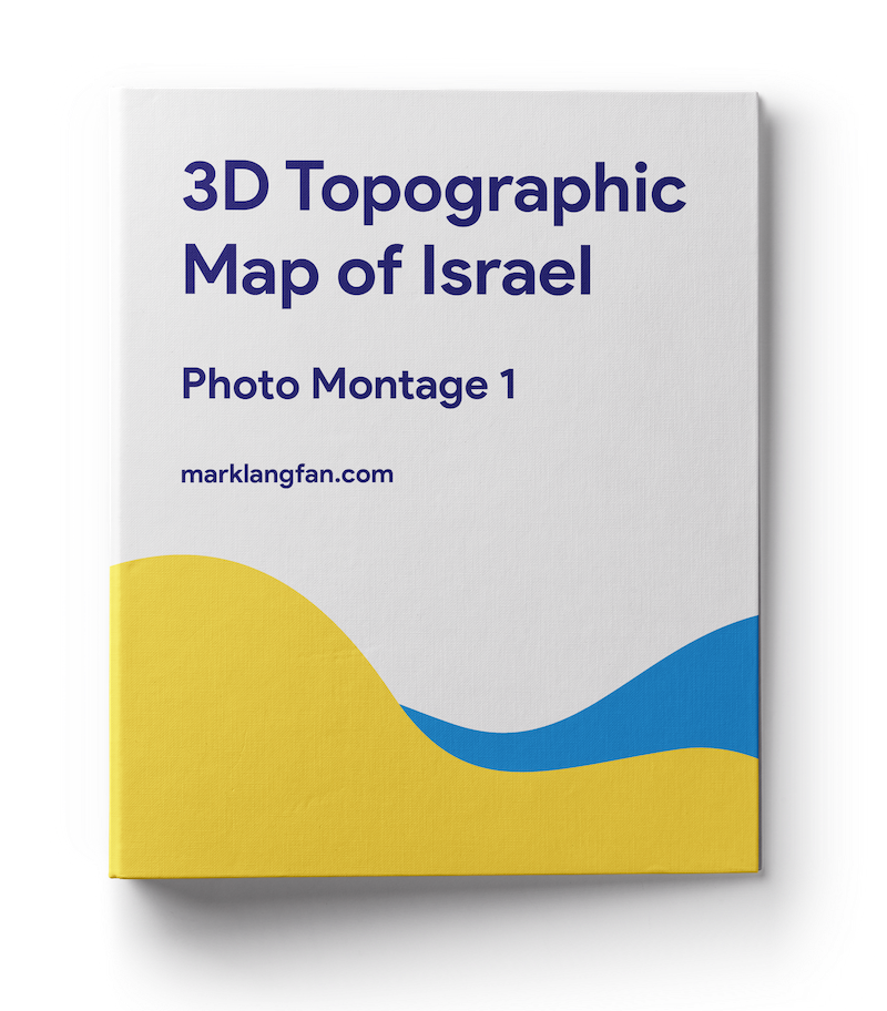 Topographic vector mountain. D map photo