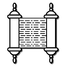Torah clipart black and white. Free cliparts download clip