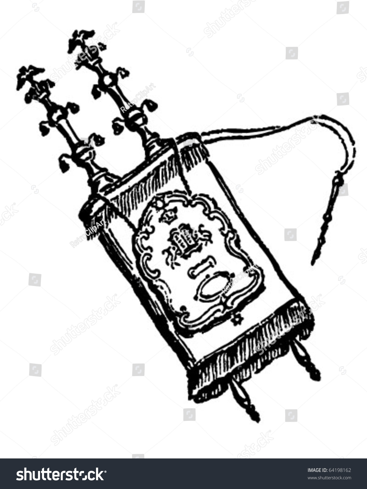 Torah clipart black and white. New design digital collection