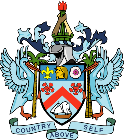 Torch clipart coat arm. Of arms saint kitts