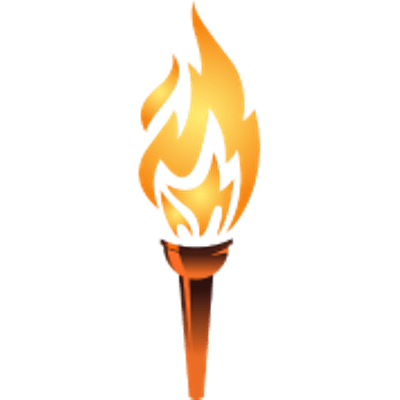 Olympic clipart fire flame. Torch transparent banner black and white