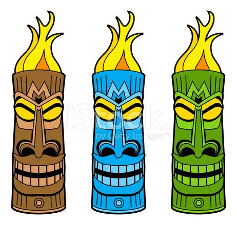 Torch clipart tiki idol. Trio stock vector freeimages