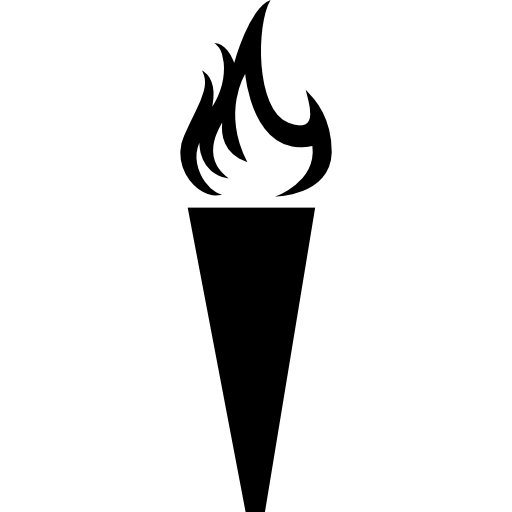 Torch icon png. With flames free tools