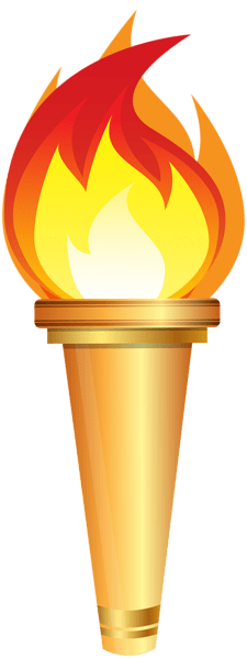 Torch transparent. Olympic clipart png stickpng