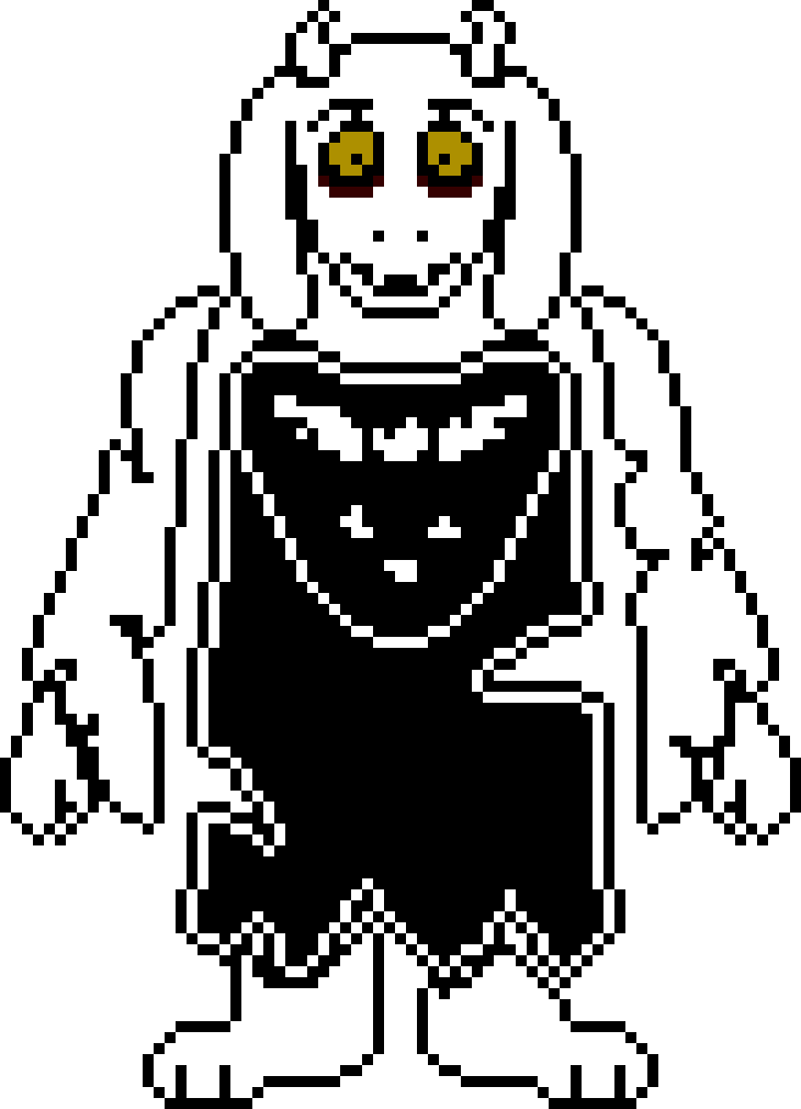 Toriel sprite png. Underfell by me sk
