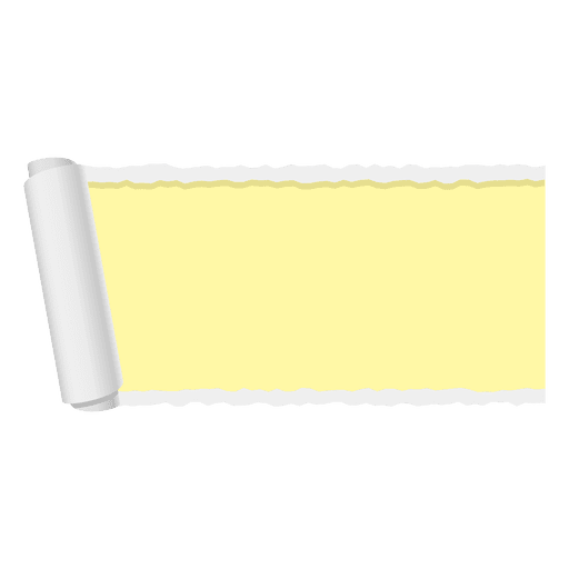 Straight banner png. Yellow ripped paper transparent