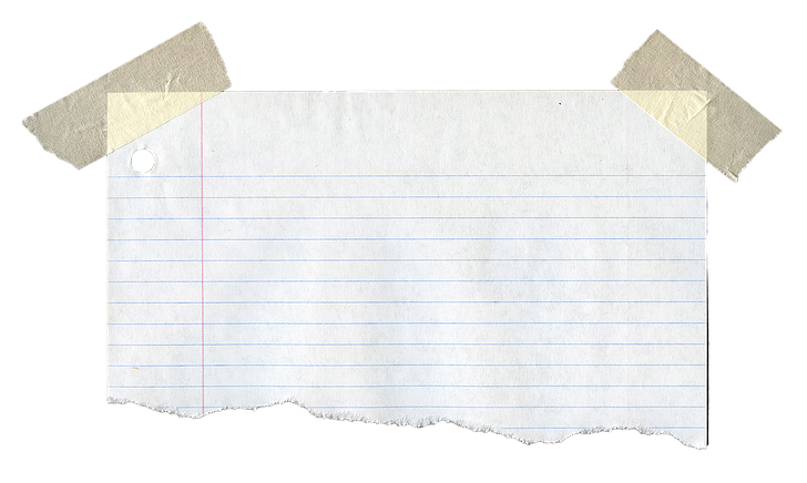 Torn notebook paper png. Note image