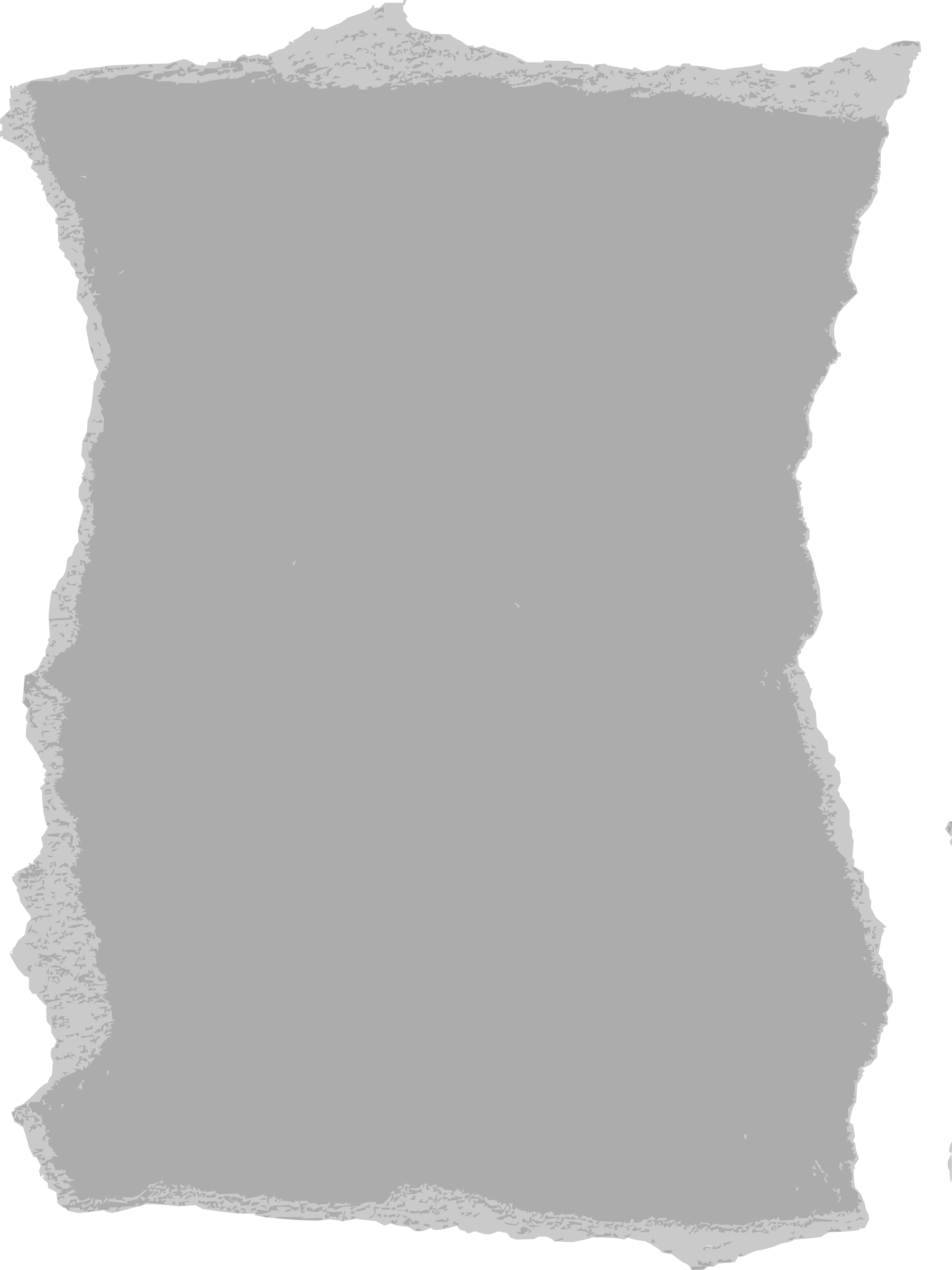 Vector newspaper cutout. Torn paper icons png