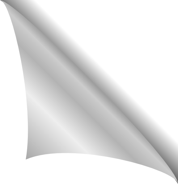 Corner transparent page curl. Free ripped paper png