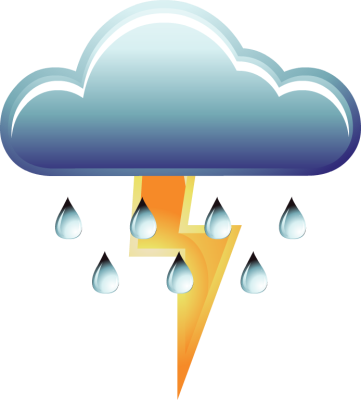 Tornado clip thunder. Thunderstorm graphic download