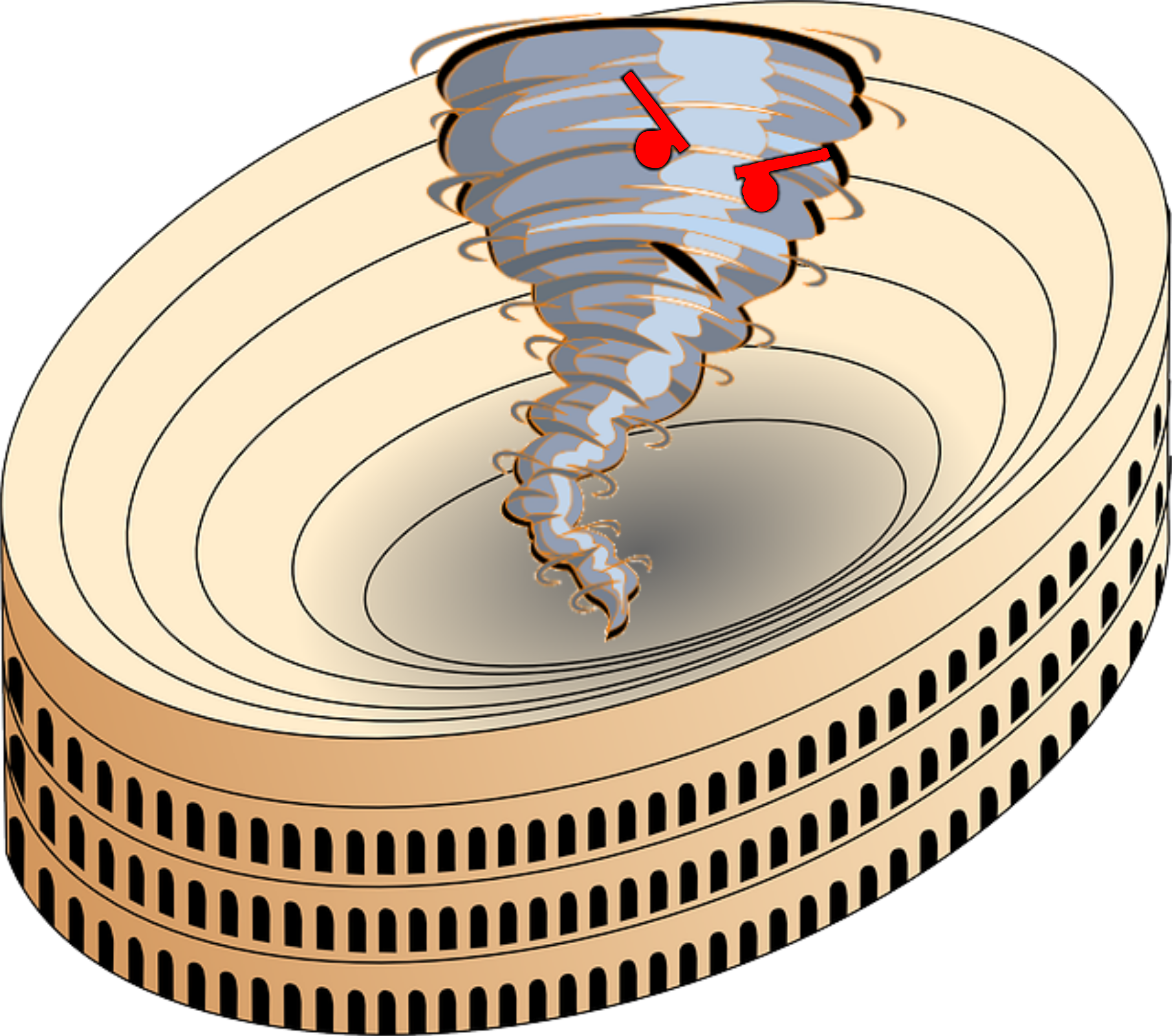 Tornado clip angry. Clipart with red eyes